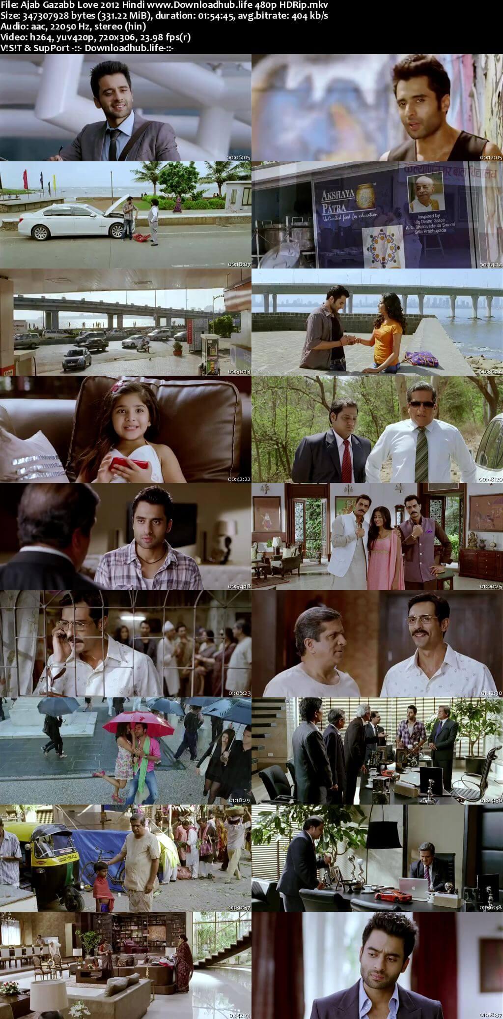 Ajab Gazabb Love 2012 Hindi 300MB HDRip 480p