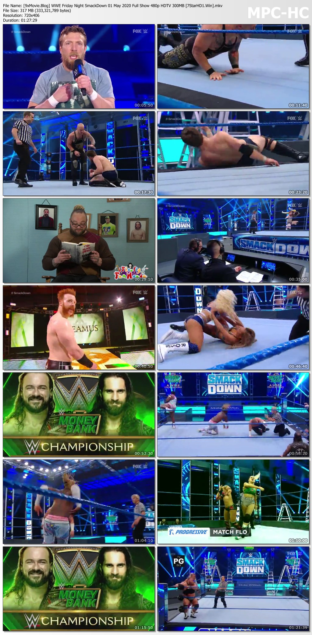WWE Friday Night SmackDown 01 May 2020 Full Show 480p HDTV x264 300MB