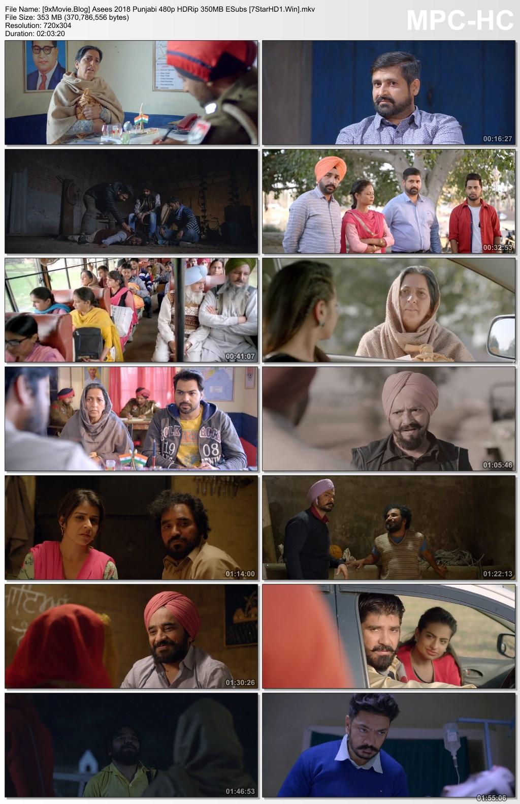 Asees 2018 Punjabi 480p HDRip x264 350MB ESubs