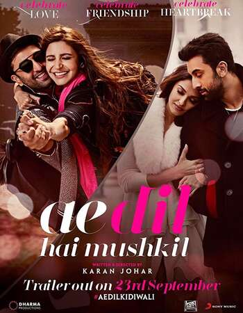 Ae Dil Hai Mushkil 2016 Full Hindi Movie BRRip Free Download