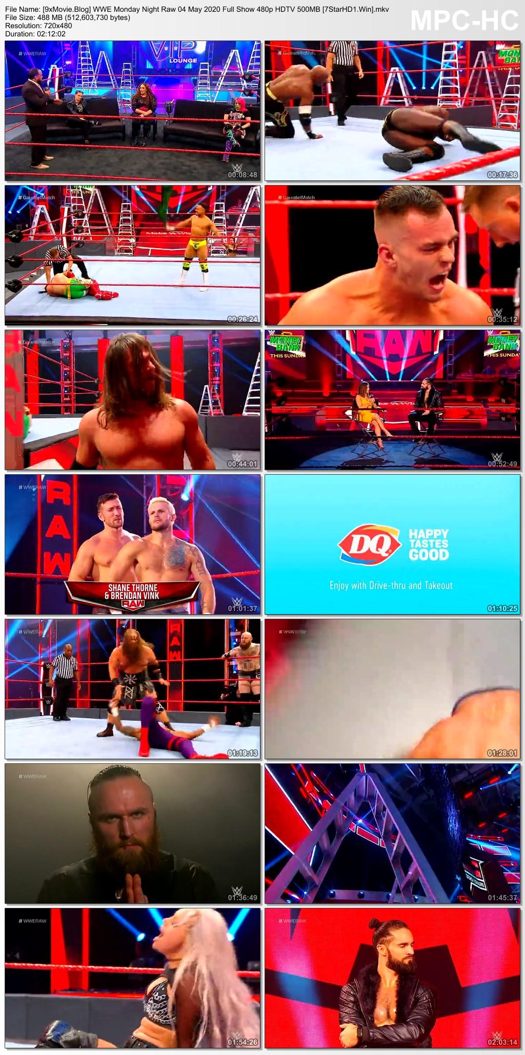 WWE Monday Night Raw 04 May 2020 Full Show 480p HDTV x264 500MB