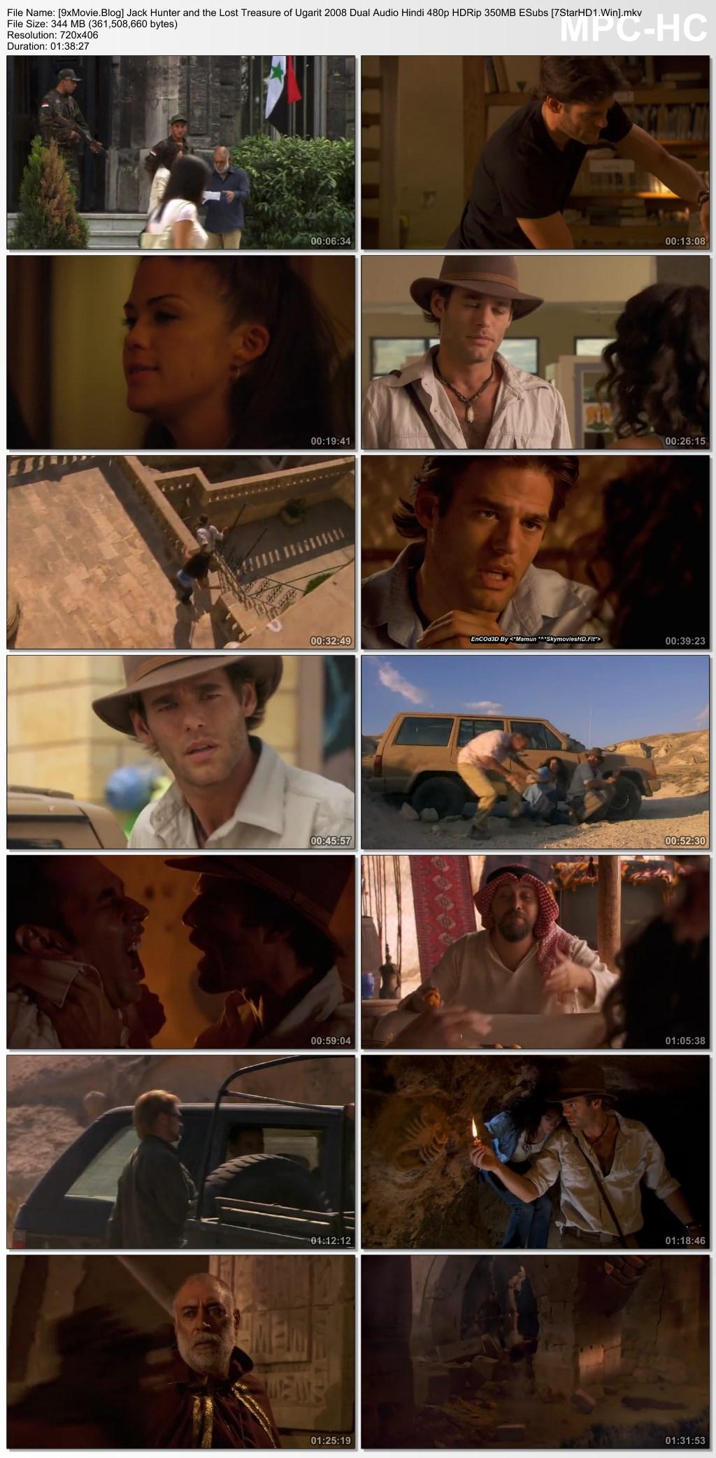 Jack Hunter and the Lost Treasure of Ugarit 2008 Dual Audio Hindi 480p HDRip x264 350MB ESubs