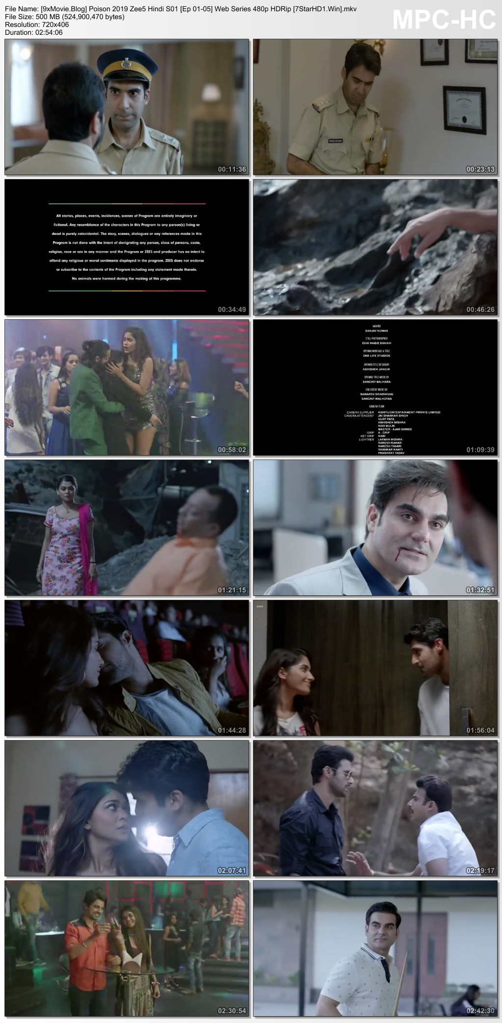 Poison 2019 Zee5 Hindi S01 Web Series 480p HDRip x264 1.2GB ESubs