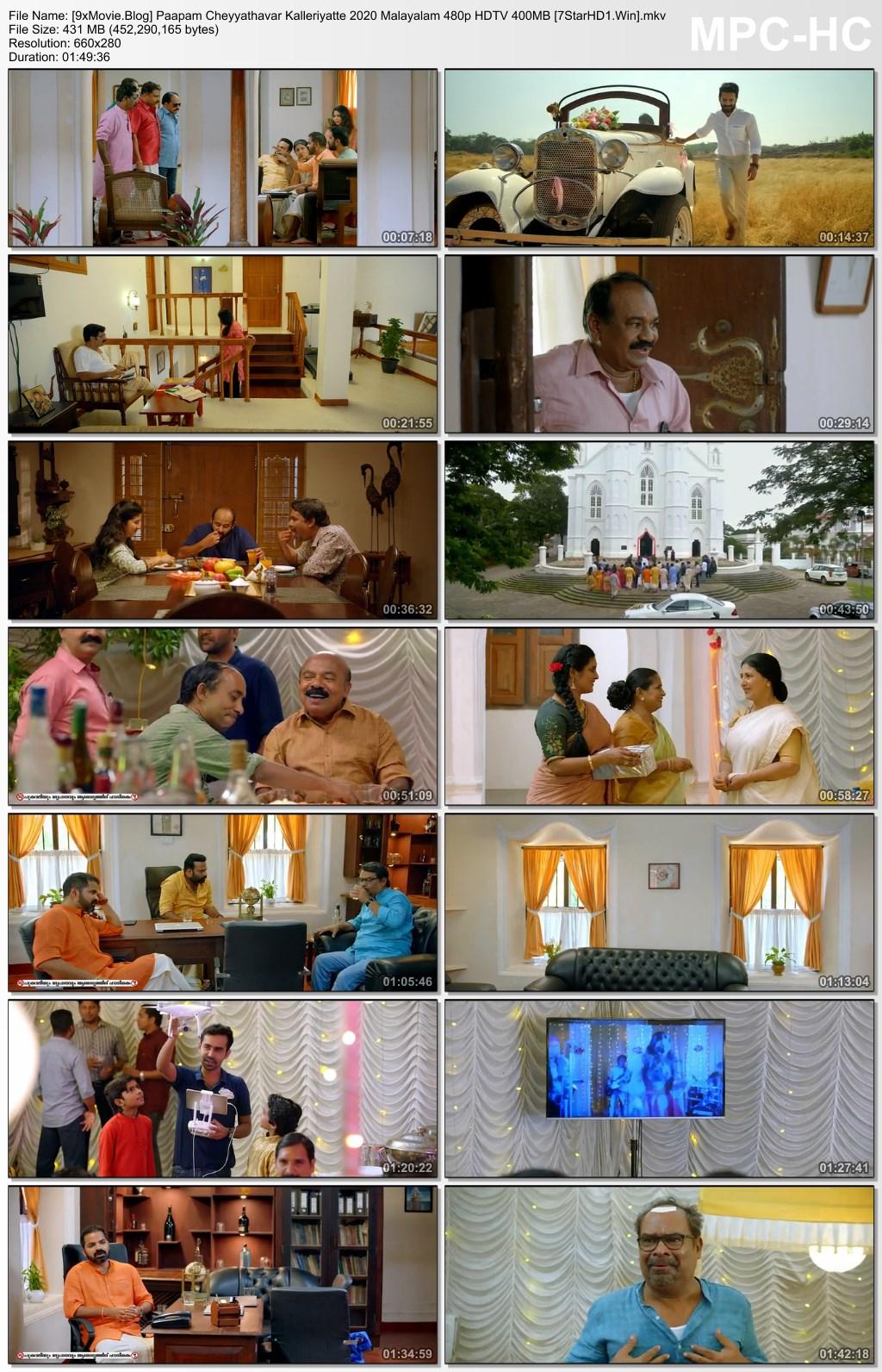 Paapam Cheyyathavar Kalleriyatte 2020 Malayalam 480p HDTV x264 400MB