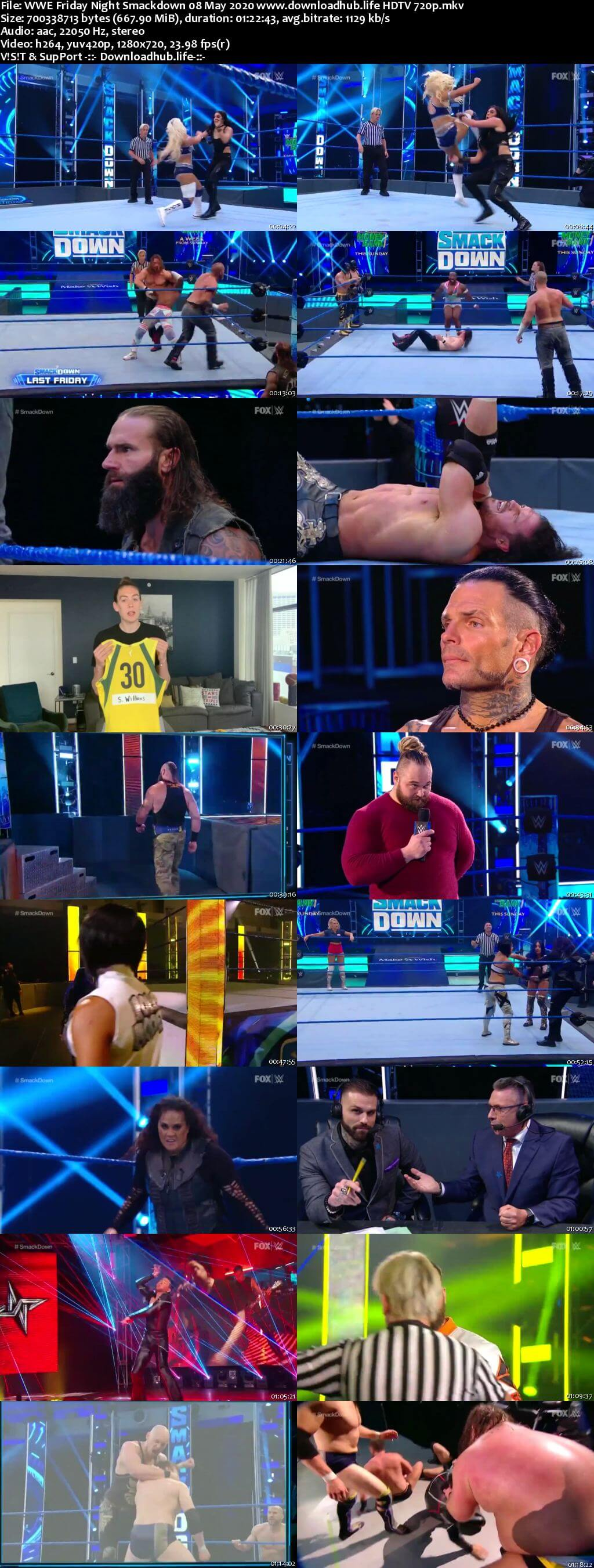 WWE Friday Night Smackdown 8th May 2020 720p 300MB HDTV 480p