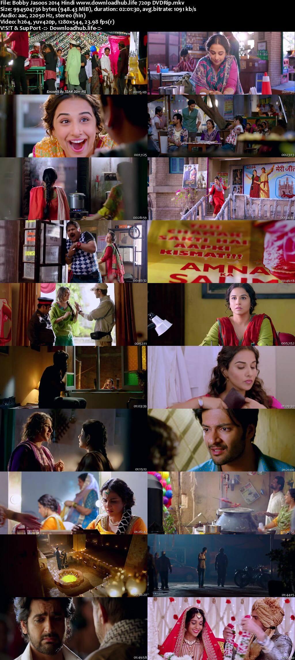 Bobby Jasoos 2014 Hindi 720p DVDRip x264