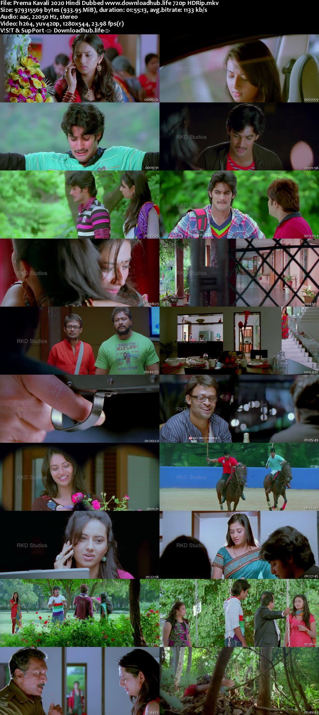 Prema Kavali 2020 Hindi Dubbed 720p HDRip x264