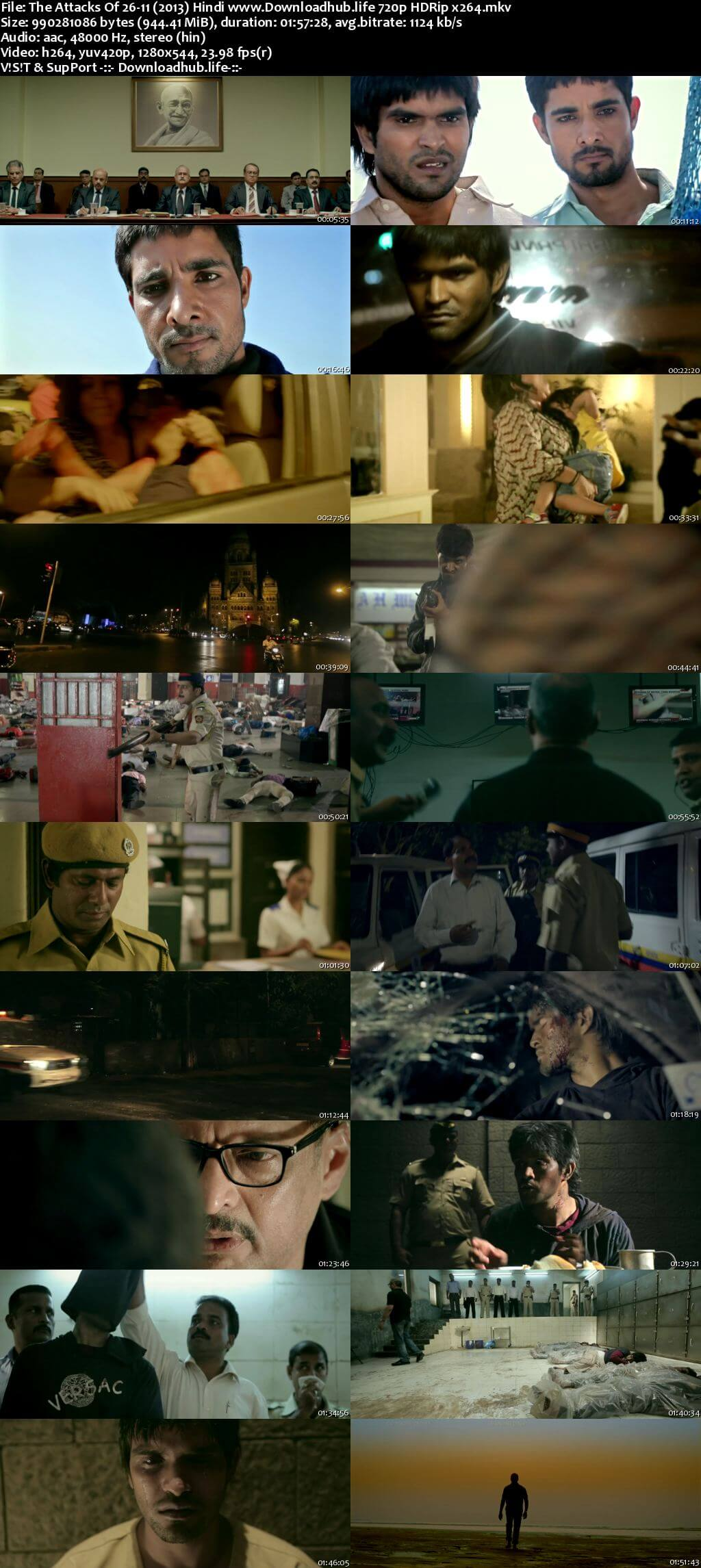 The Attacks of 26/11 2013 Hindi 720p HDRip x264