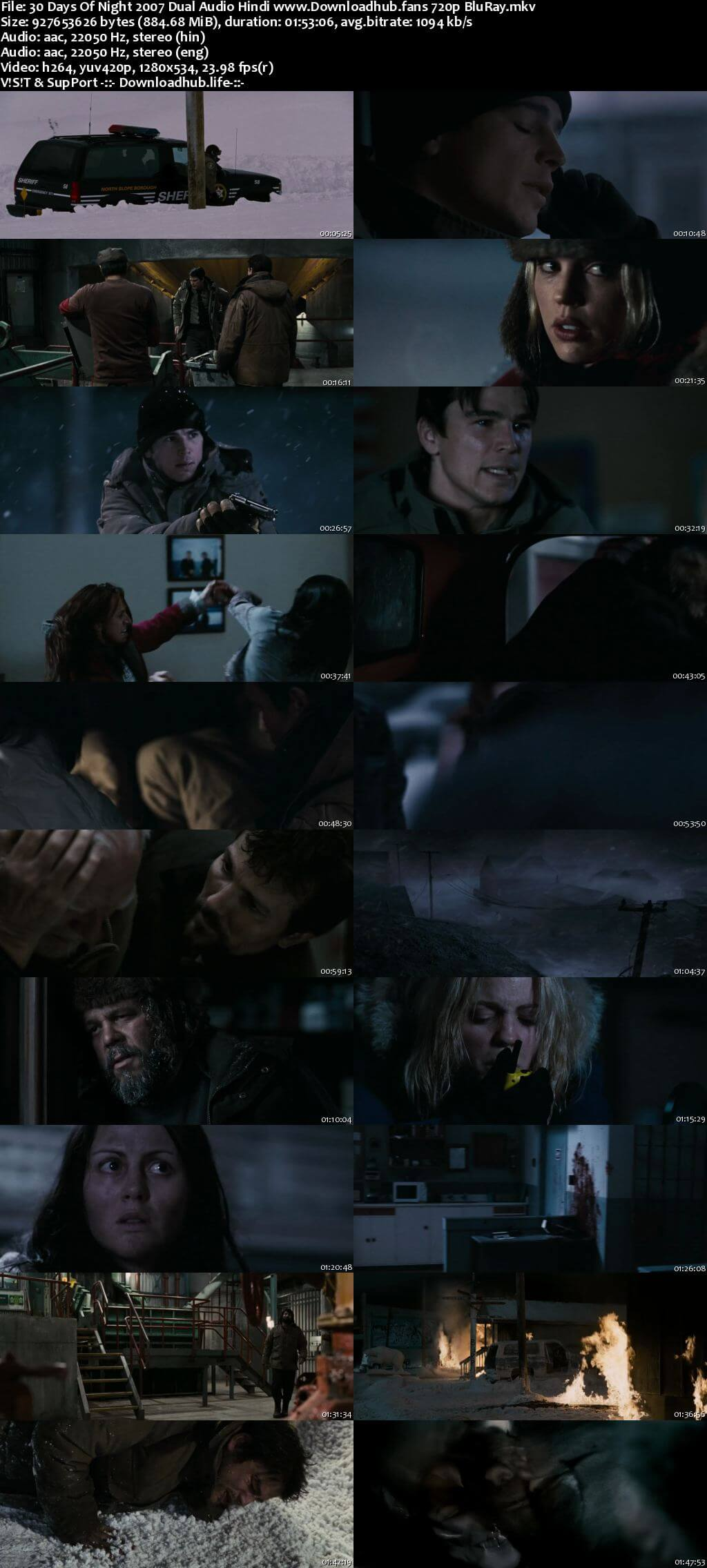 30 Days of Night 2007 Hindi Dual Audio 720p BluRay x264