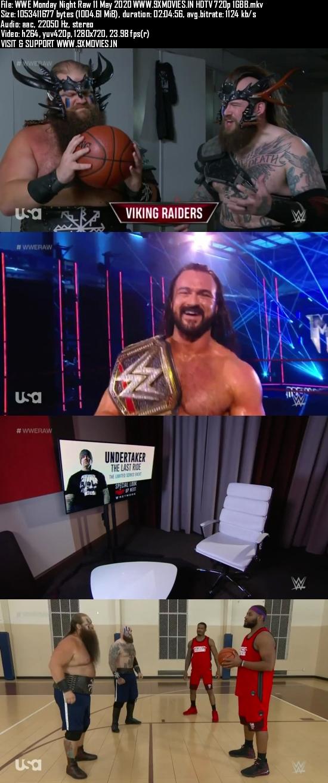 WWE Monday Night Raw 11 May 2020 HDTV 720p 480p 500MB