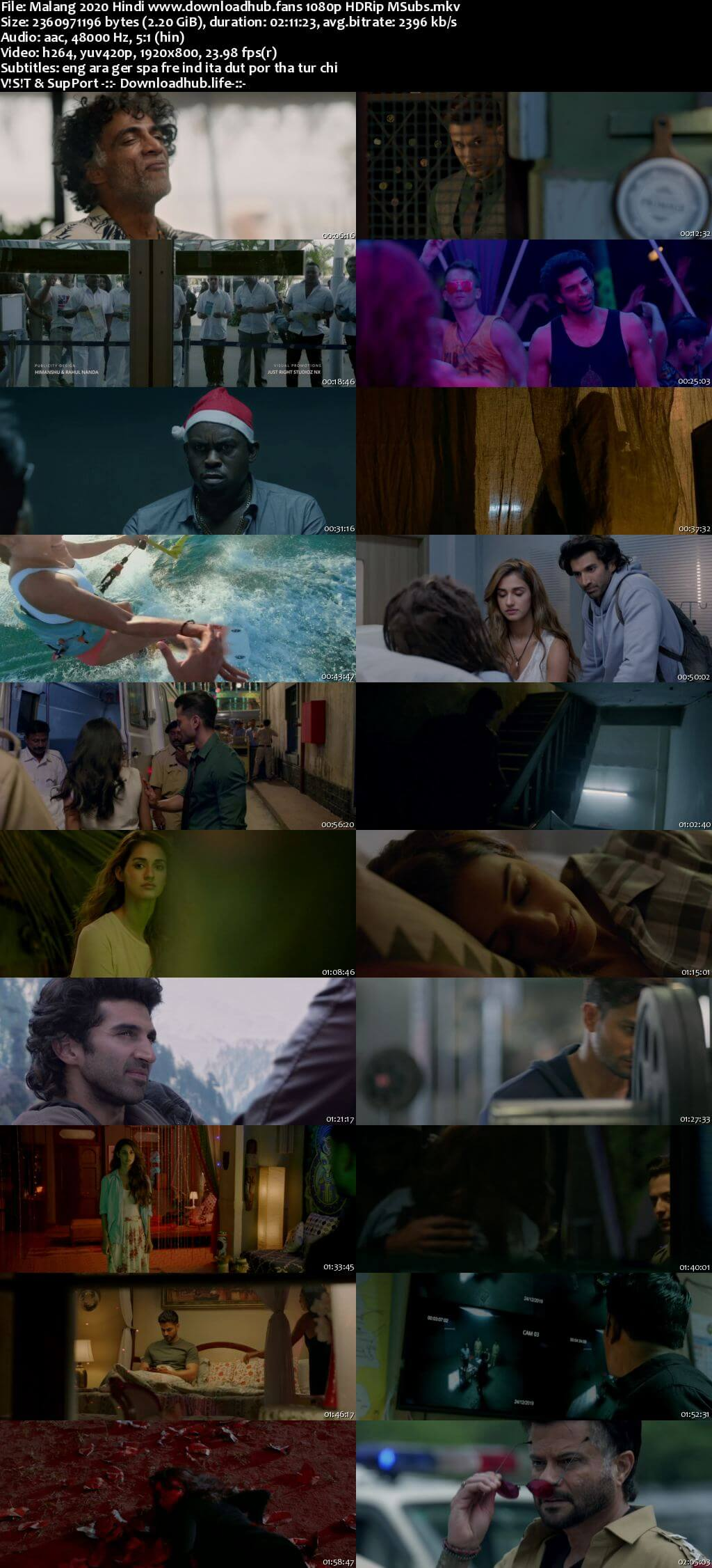 Malang 2020 Hindi 1080p HDRip MSubs