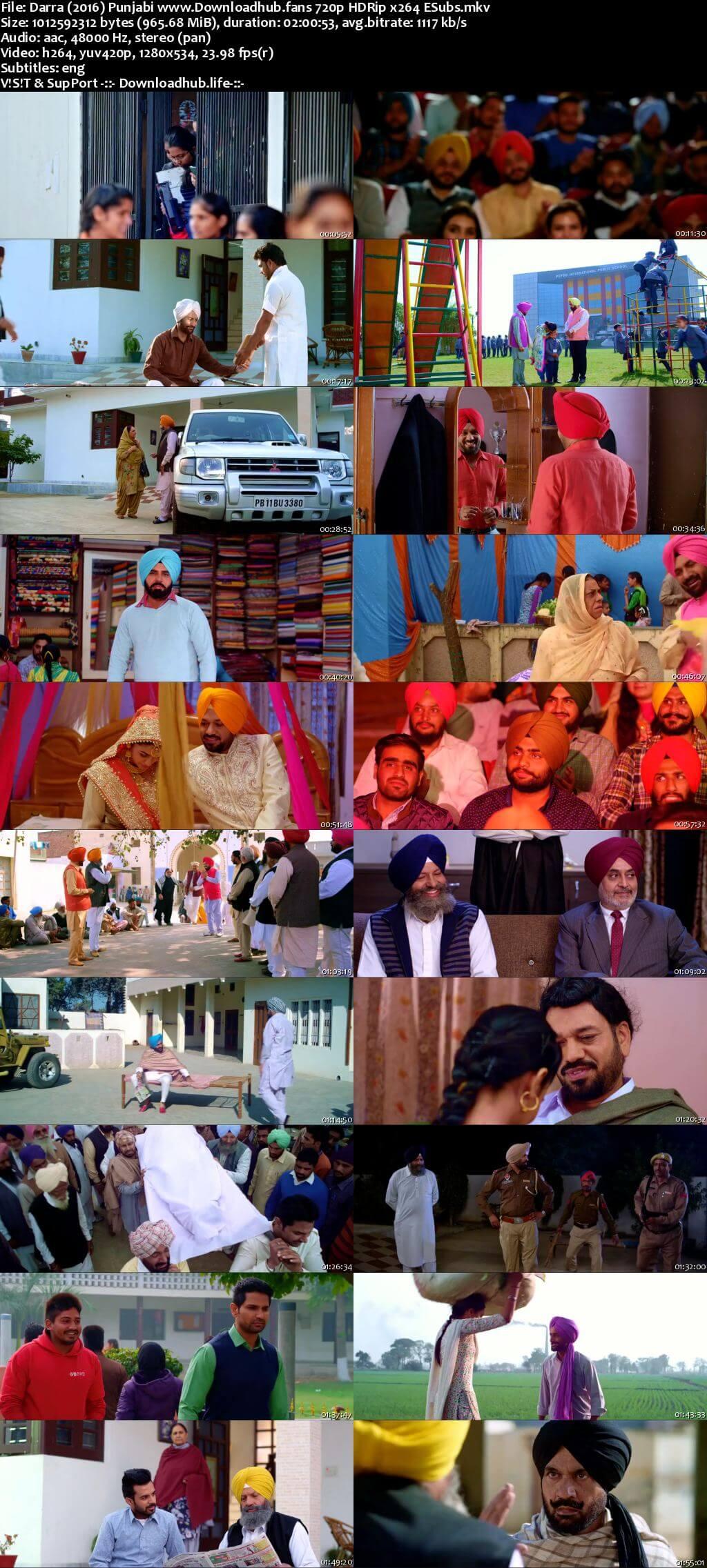 Darra 2016 Punjabi 720p HDRip ESubs