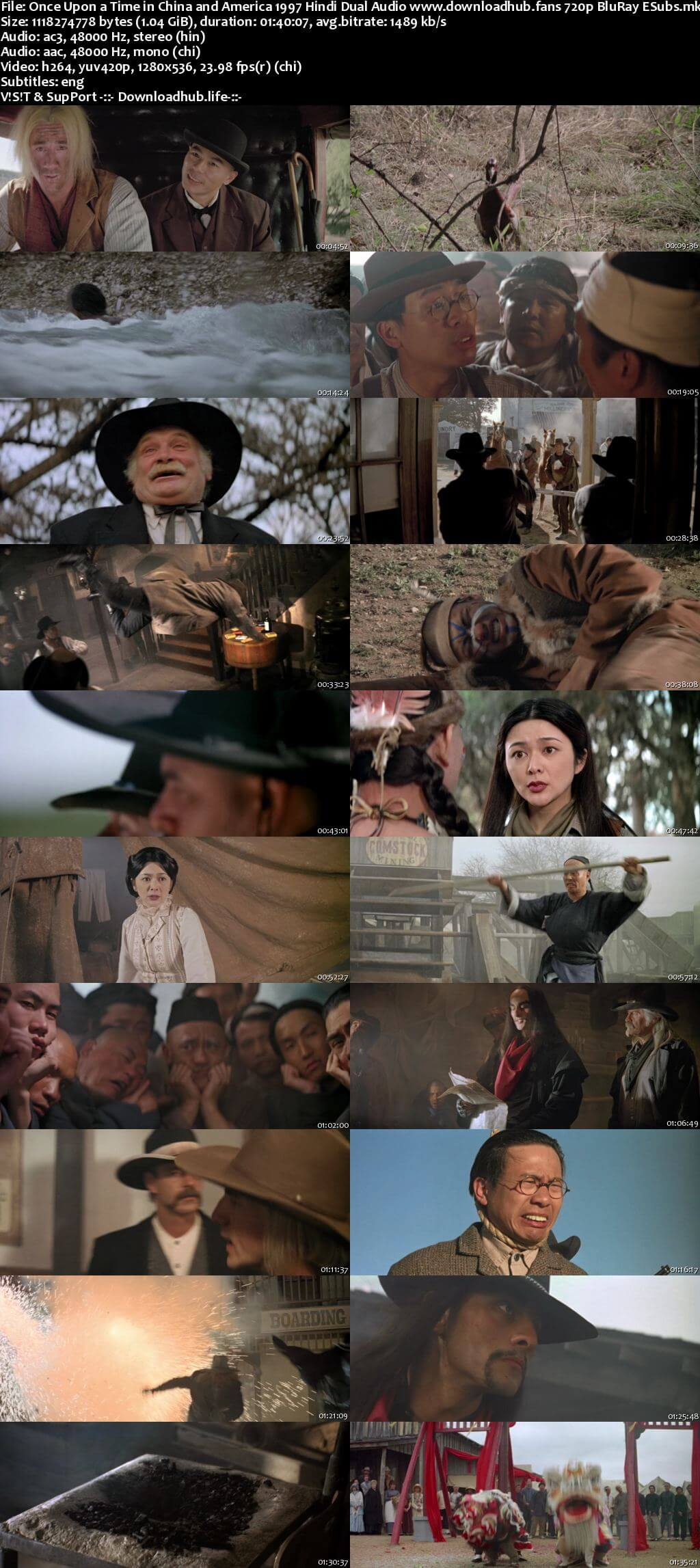 Once Upon a Time in China and America 1997 Hindi Dual Audio 720p BluRay ESubs