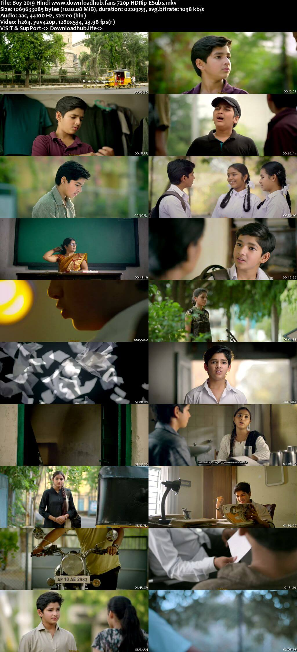 Boy 2019 Hindi 720p HDRip ESubs
