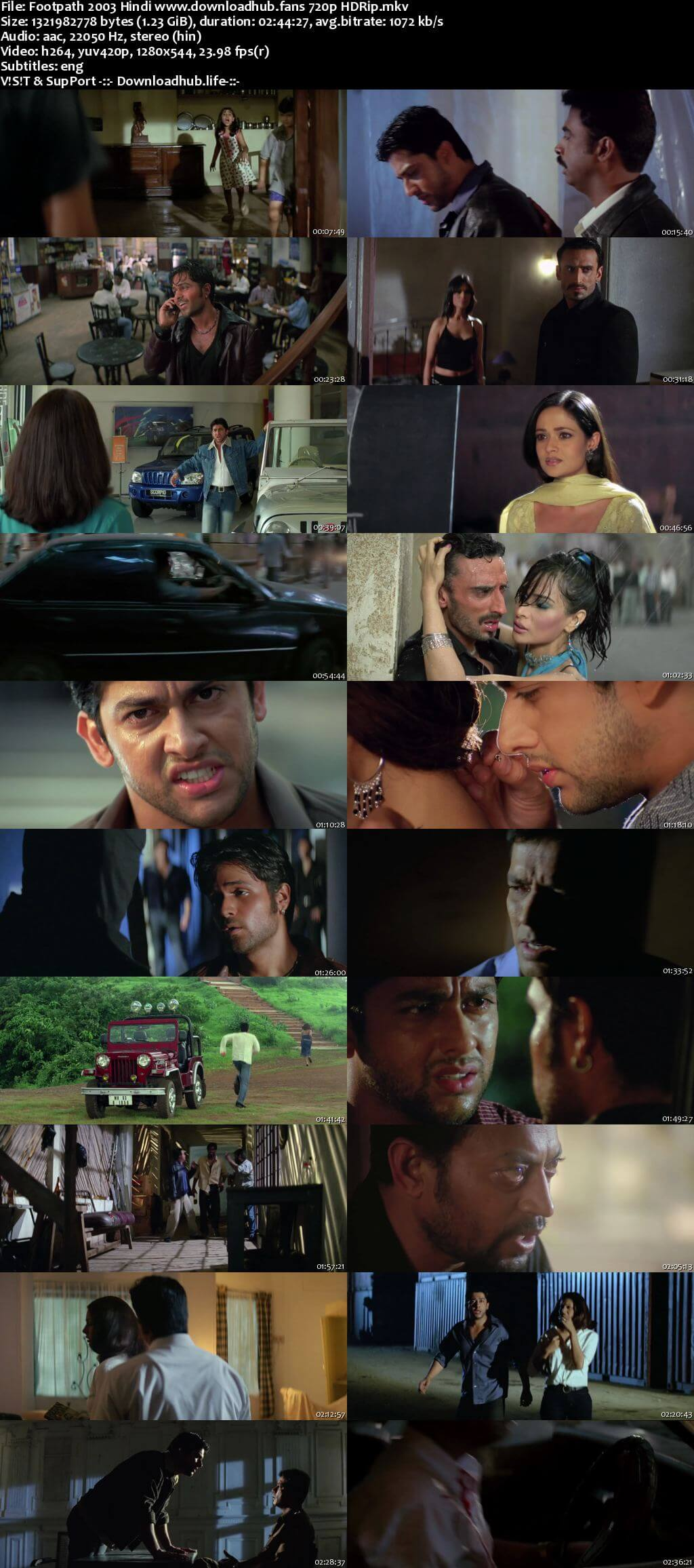 Footpath 2003 Hindi 720p HDRip ESubs