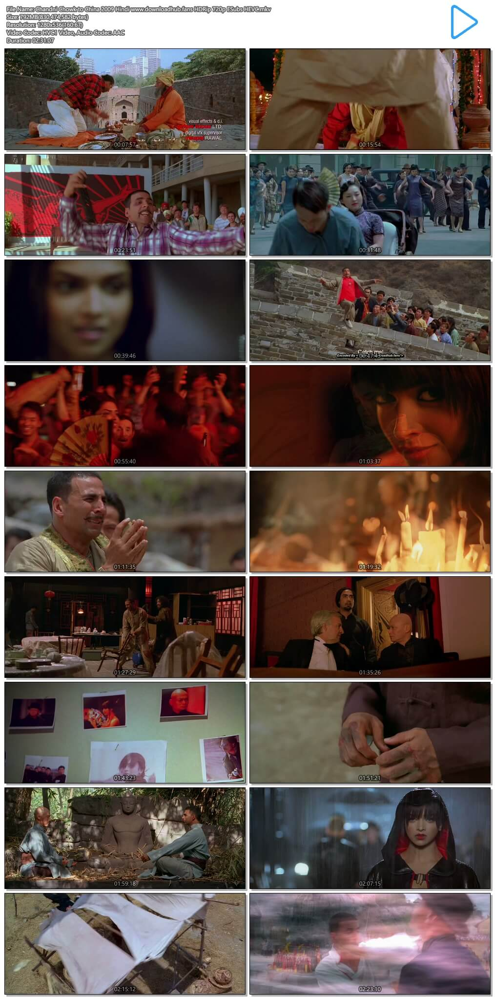 Chandni Chowk to China 2009 Hindi 800MB HDRip 720p ESubs HEVC