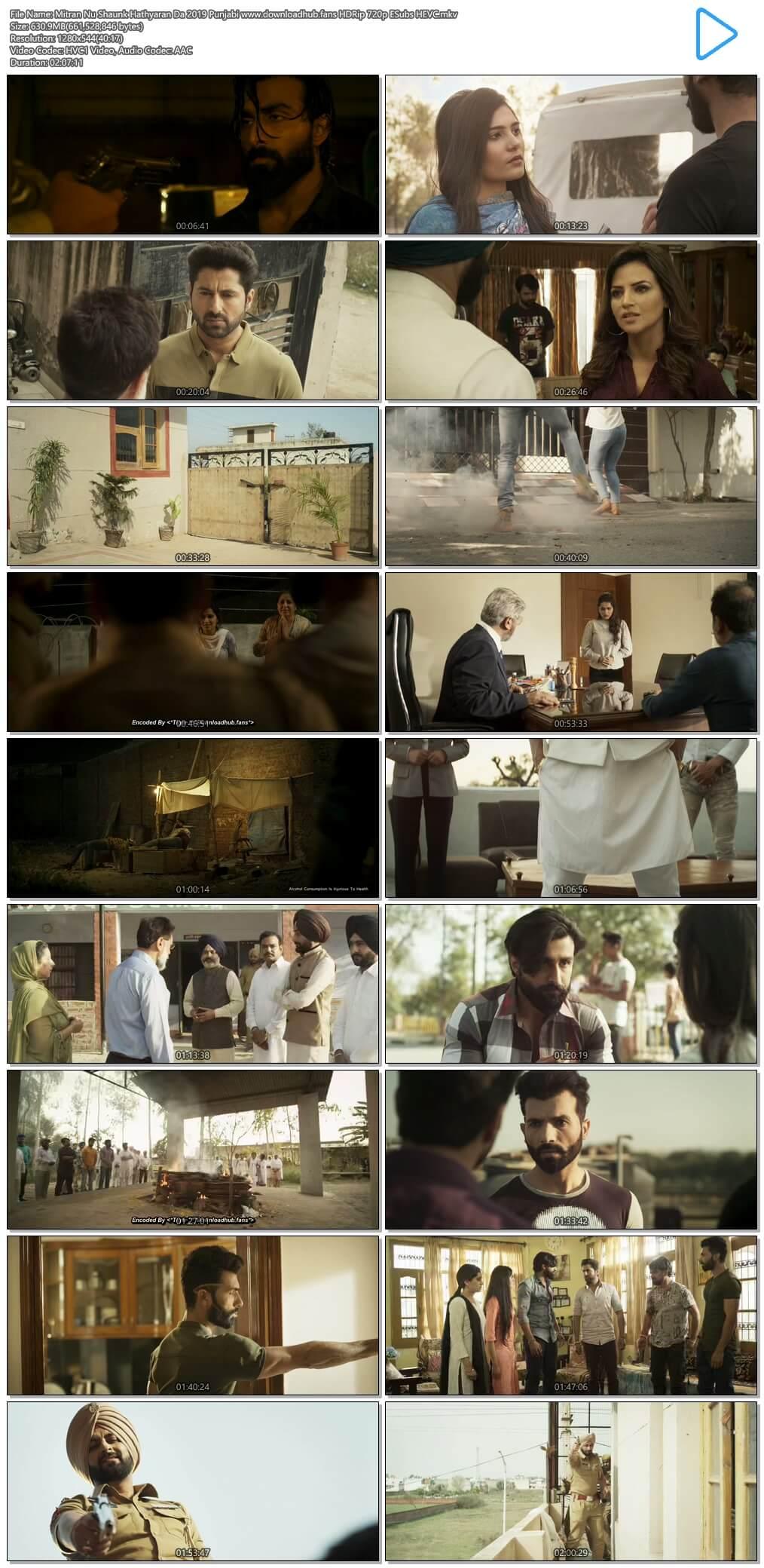 Mitran Nu Shaunk Hathyaran Da 2019 Punjabi 600MB HDRip 720p ESubs HEVC