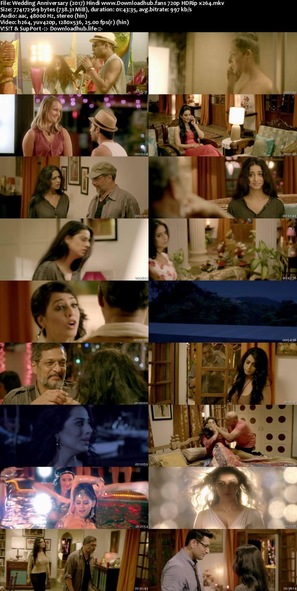 Wedding Anniversary 2017 Hindi 720p HDRip x264