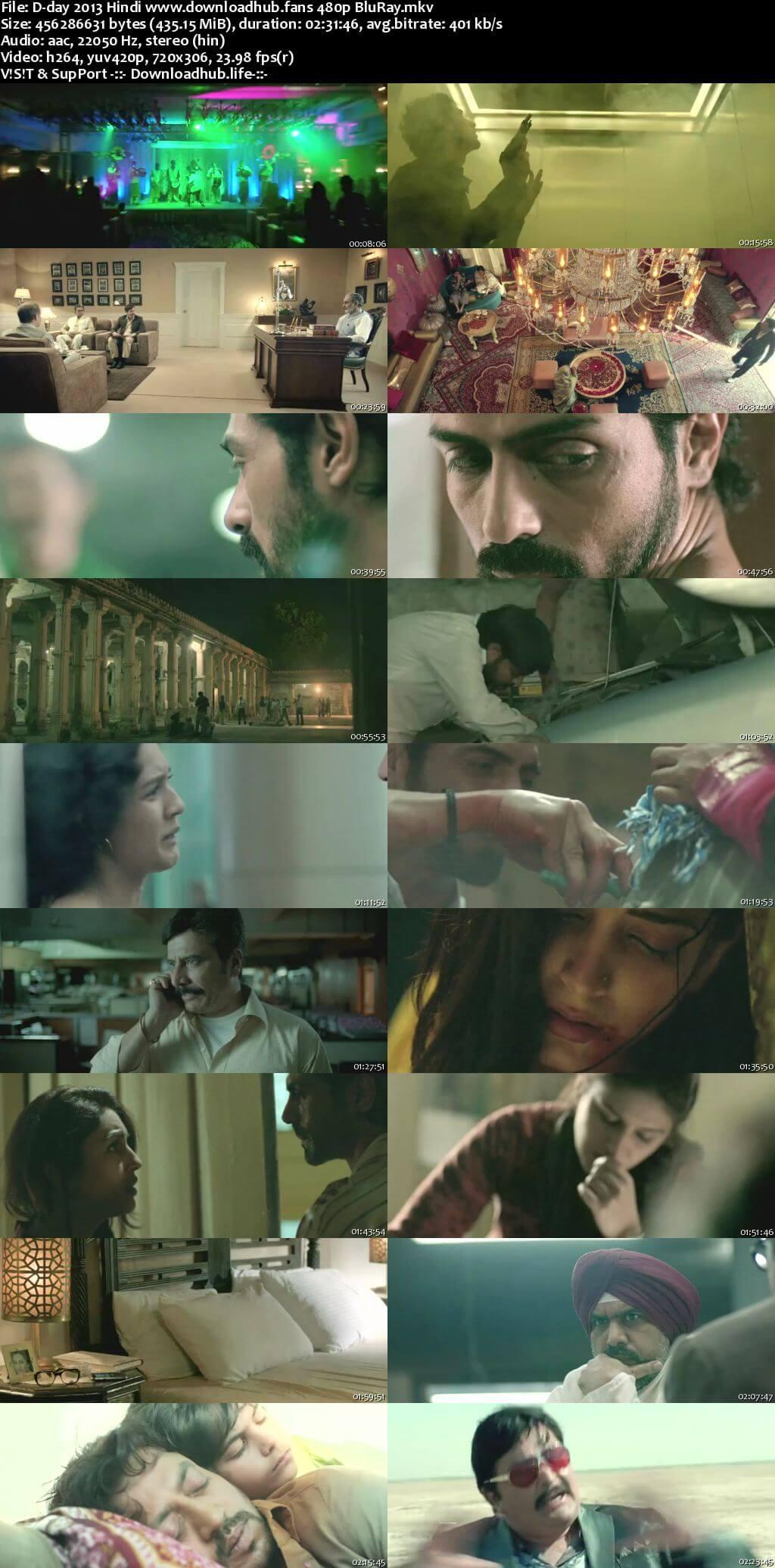 D-Day 2013 Hindi 400MB BluRay 480p