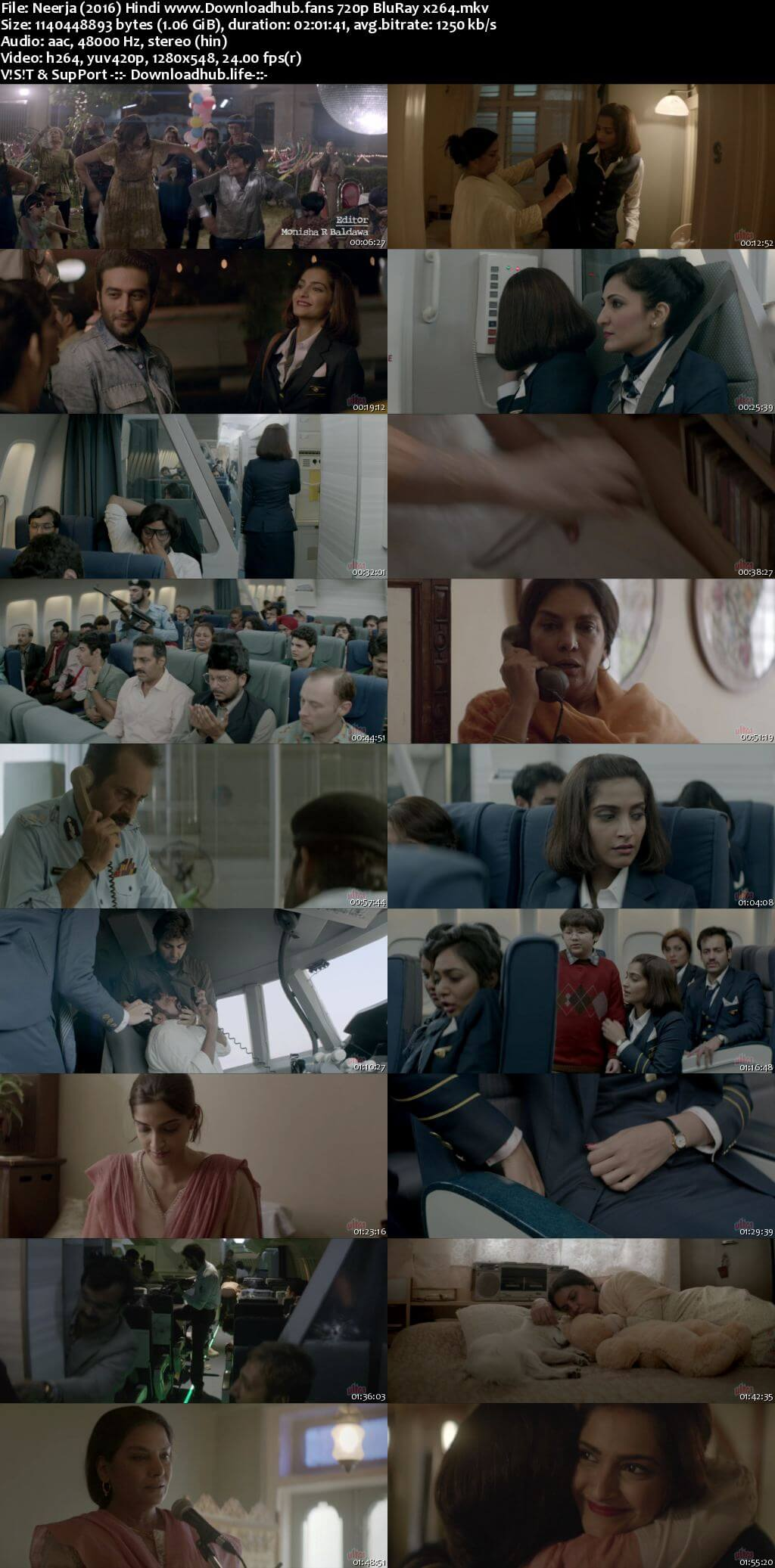Neerja 2016 Hindi 720p BluRay x264