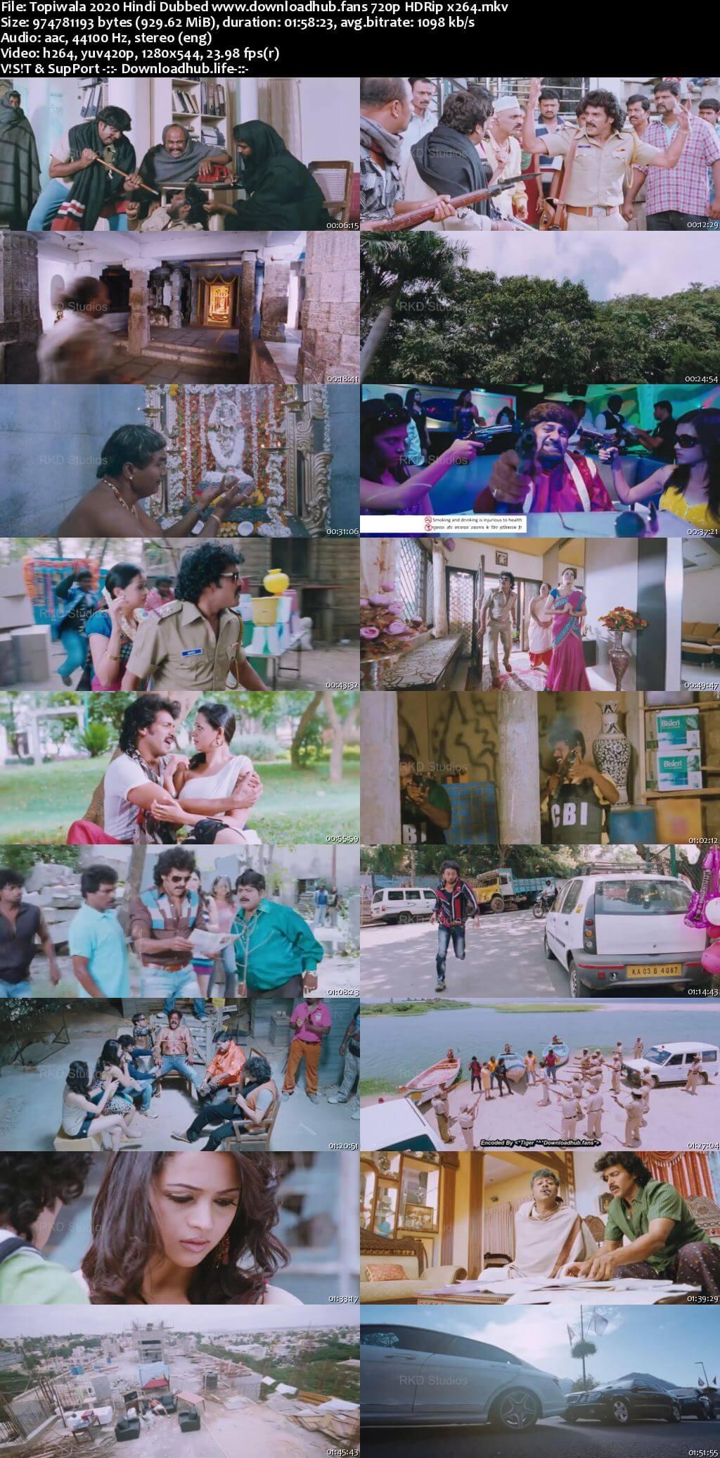 Topiwala 2020 Hindi Dubbed 720p HDRip x264