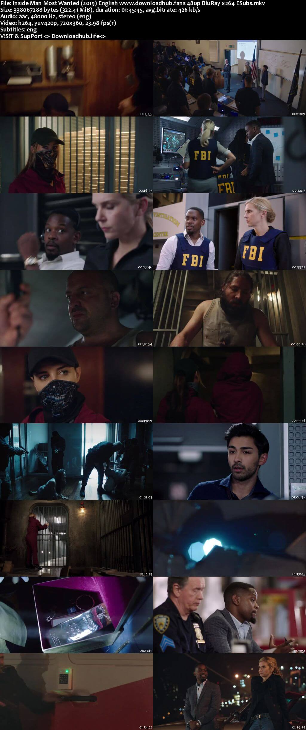 Inside Man Most Wanted 2019 English 300MB Web-DL 480p ESubs