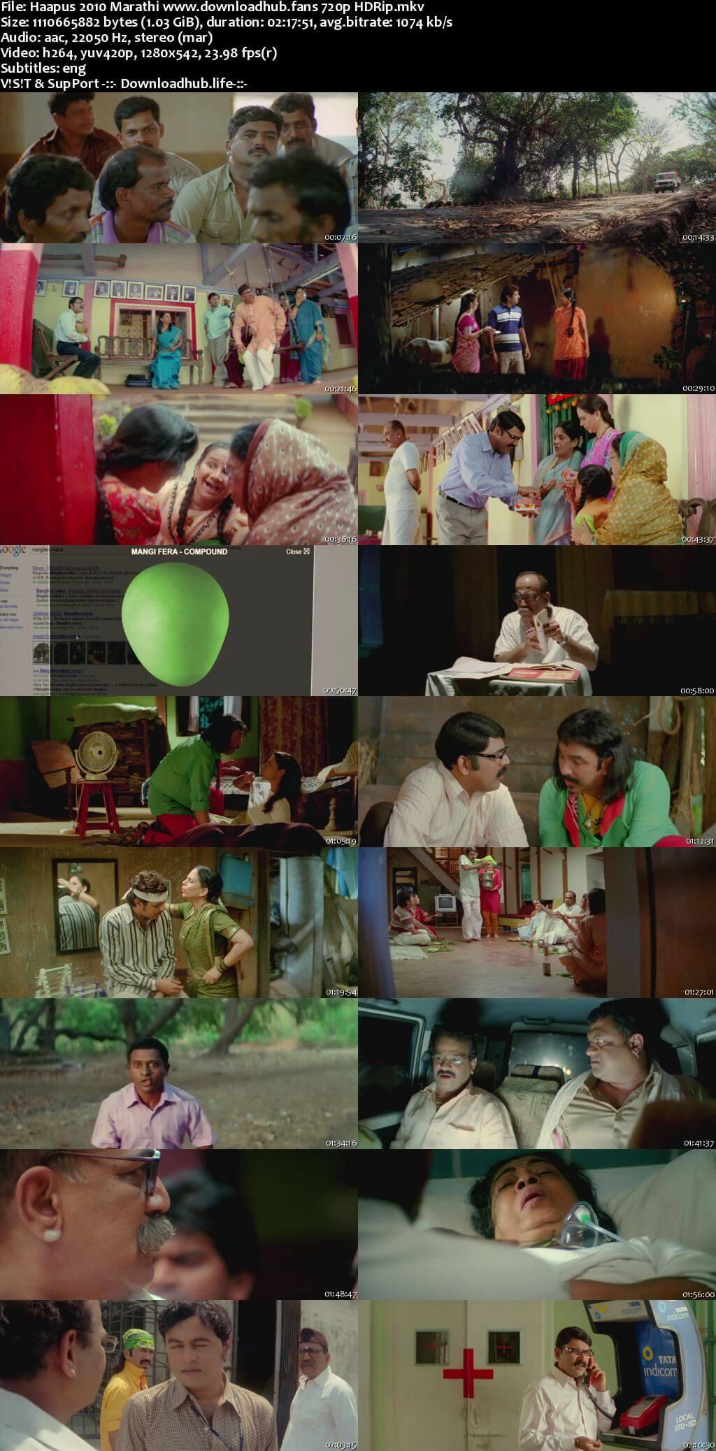 Haapus 2010 Marathi 720p HDRip ESubs
