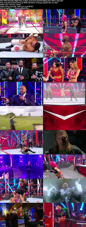WWE Monday Night Raw 25th May 2020 720p 500MB HDTVRip 480p