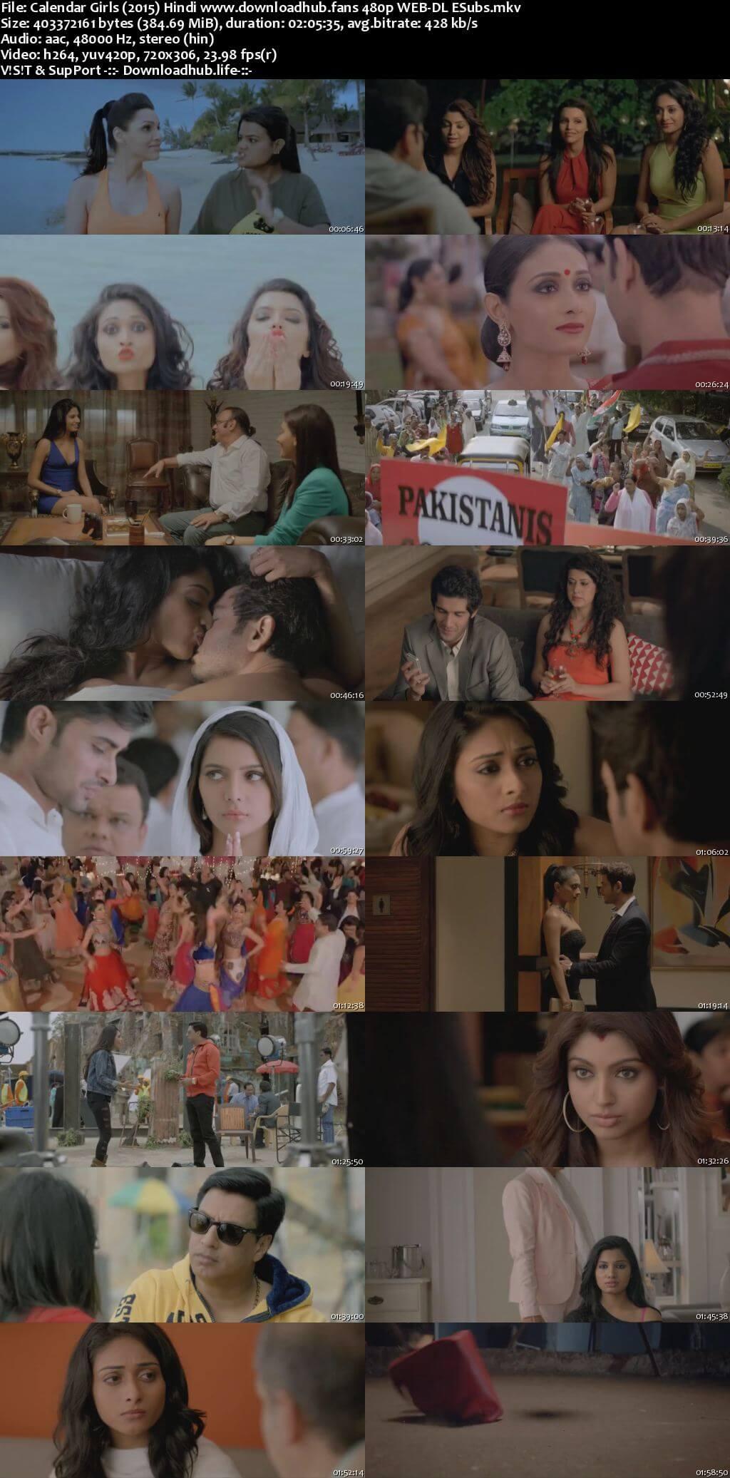 Calendar Girls 2015 Hindi 350MB HDRip 480p ESubs