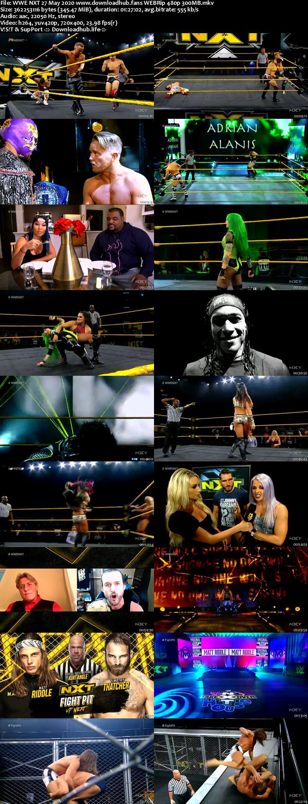 WWE NXT 27th May 2020 350MB HDTV 480p