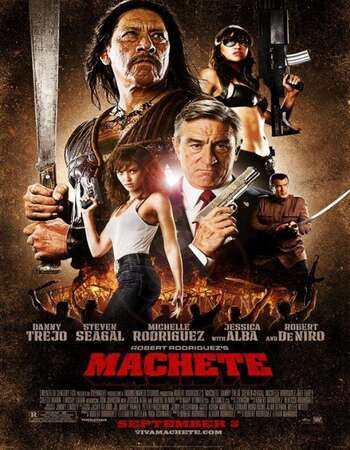 Machete 2010 Hindi Dual Audio 300MB UNRATED BluRay 480p ESubs
