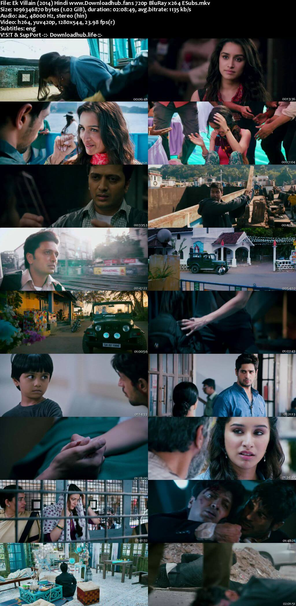 Ek Villain 2014 Hindi 720p BluRay ESubs