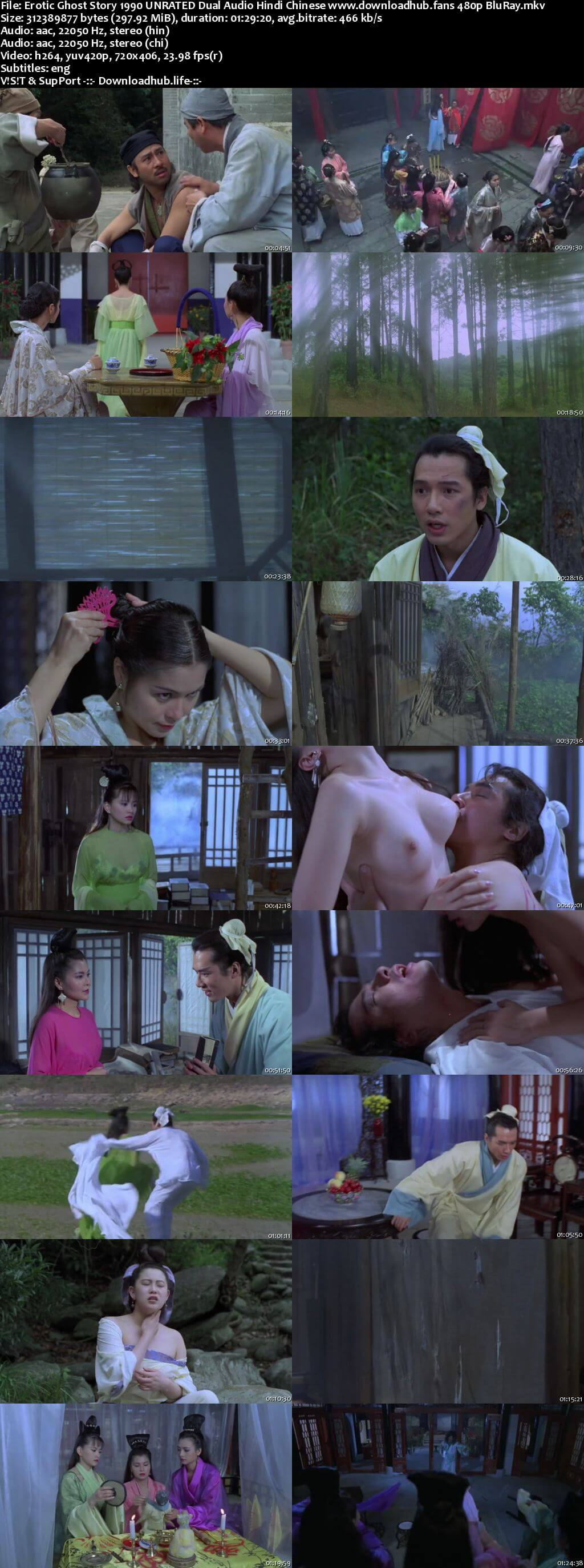 Erotic Ghost Story 1990 Hindi Dual Audio 300MB UNRATED BluRay 480p ESubs