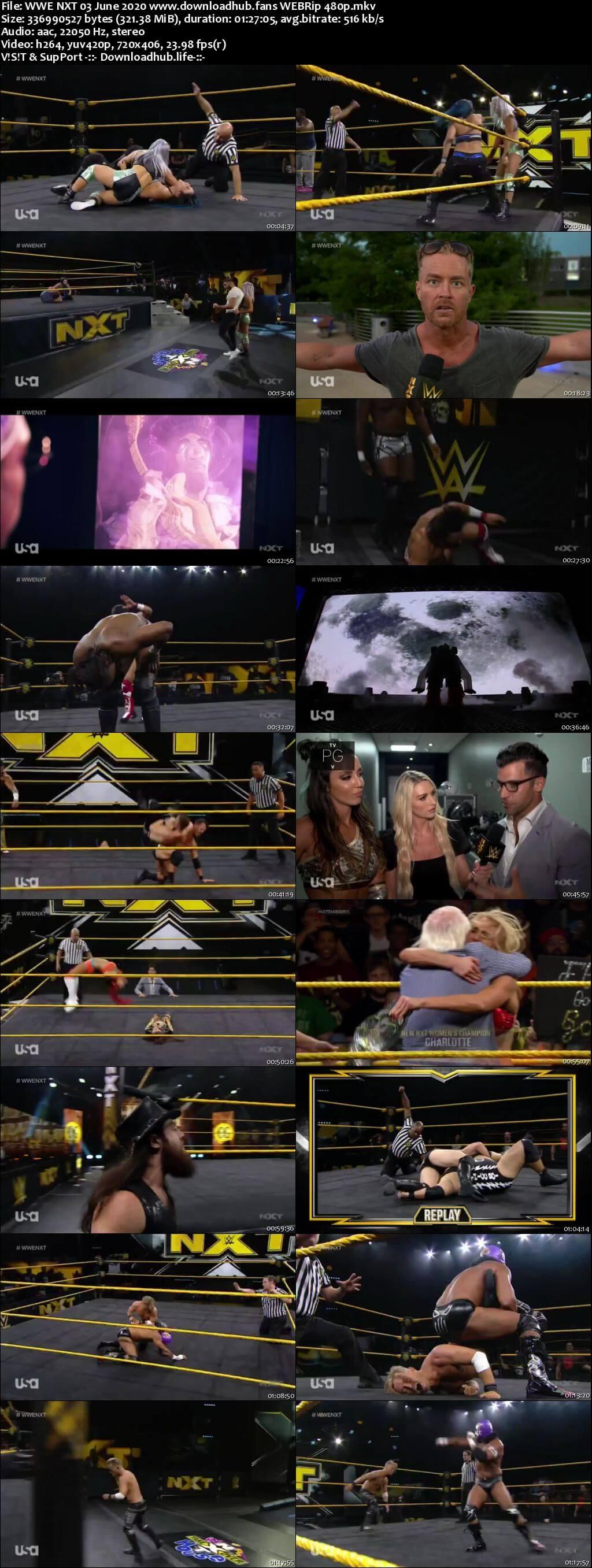 WWE NXT 3rd June 2020 300MB HDTV 480p