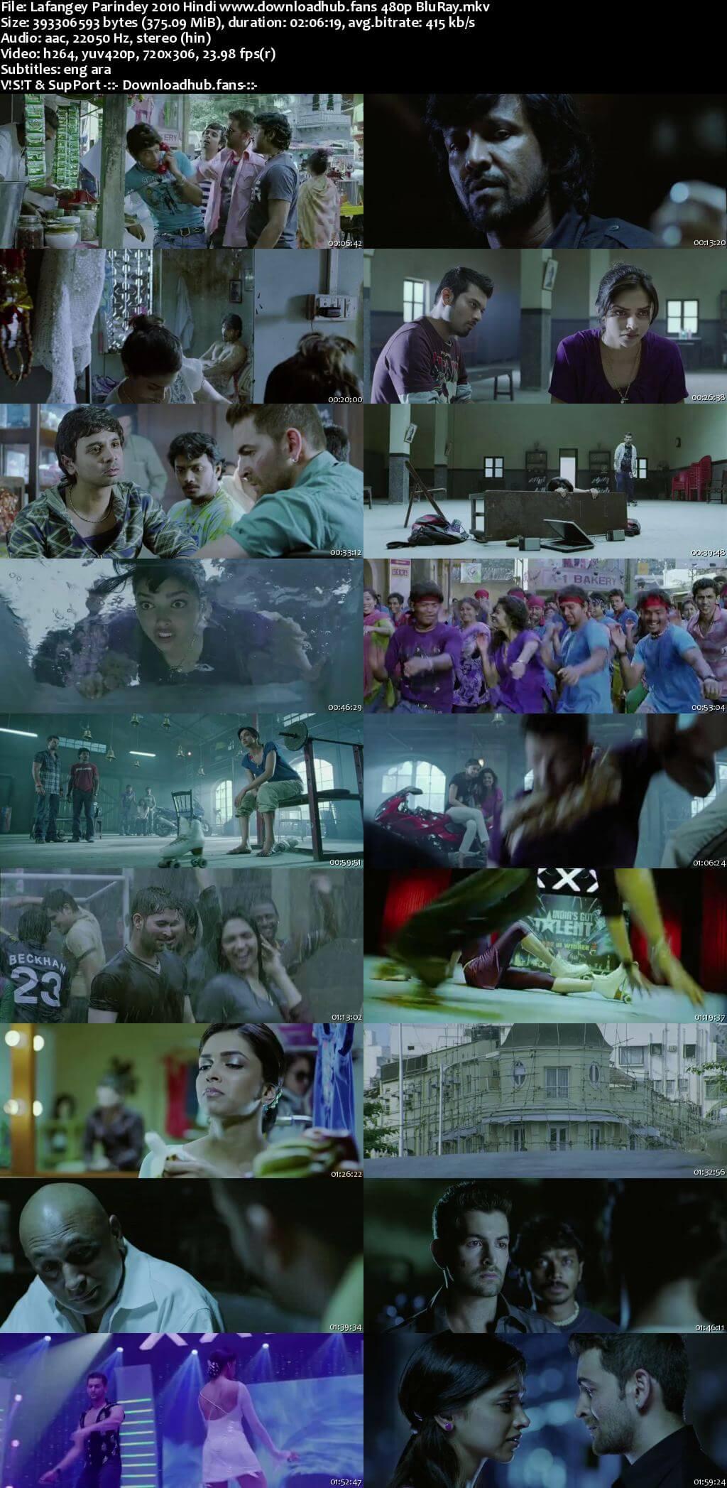 Lafangey Parindey 2010 Hindi 350MB BluRay 480p ESubs