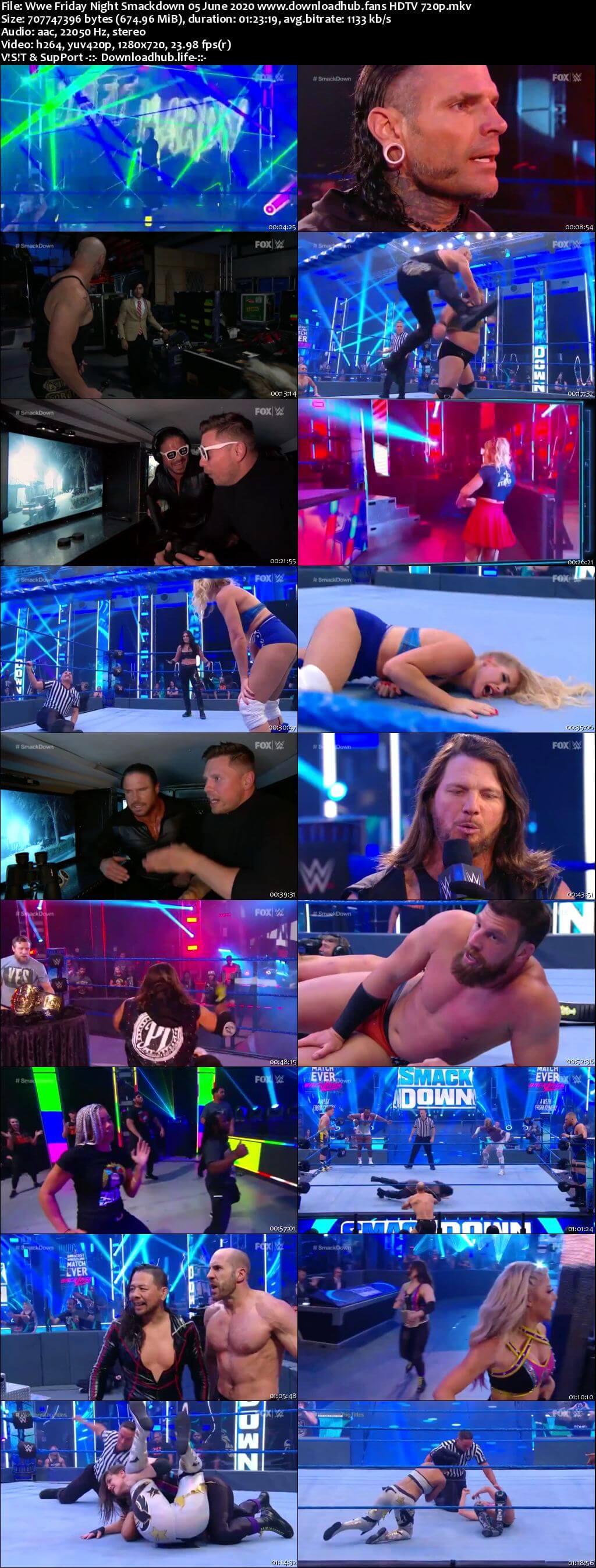 WWE Friday Night Smackdown 3rd June 2020 720p 300MB HDTV 480p