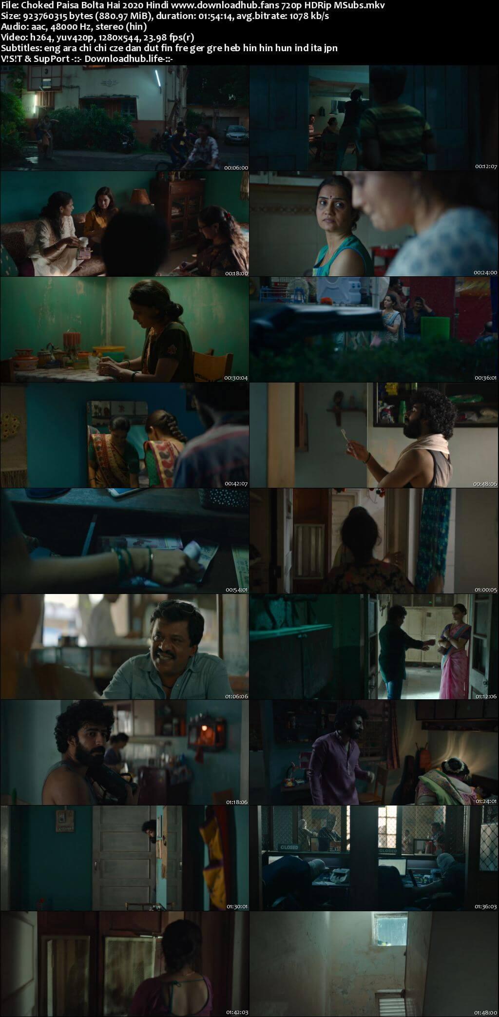 Choked Paisa Bolta Hai 2020 Hindi 720p HDRip MSubs