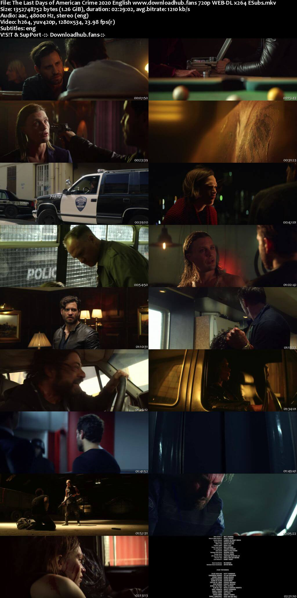 The Last Days of American Crime 2020 English 720p NF Web-DL 1.2GB ESubs