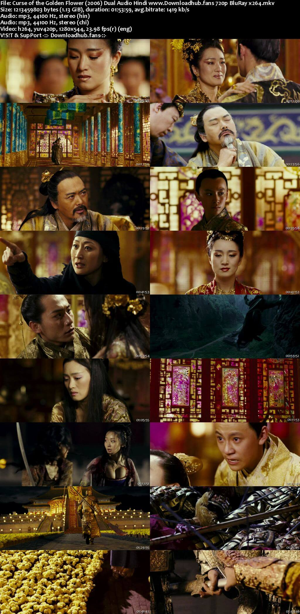 Curse of the Golden Flower 2006 Hindi Dual Audio 720p BluRay x264