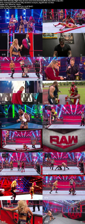 WWE Monday Night Raw 8th June 2020 720p 500MB HDTVRip 480p