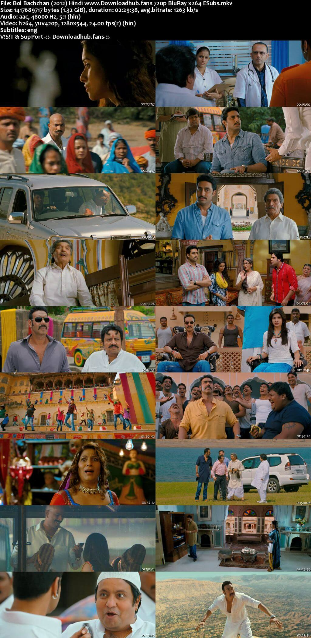 Bol Bachchan 2012 Hindi 720p BluRay ESubs