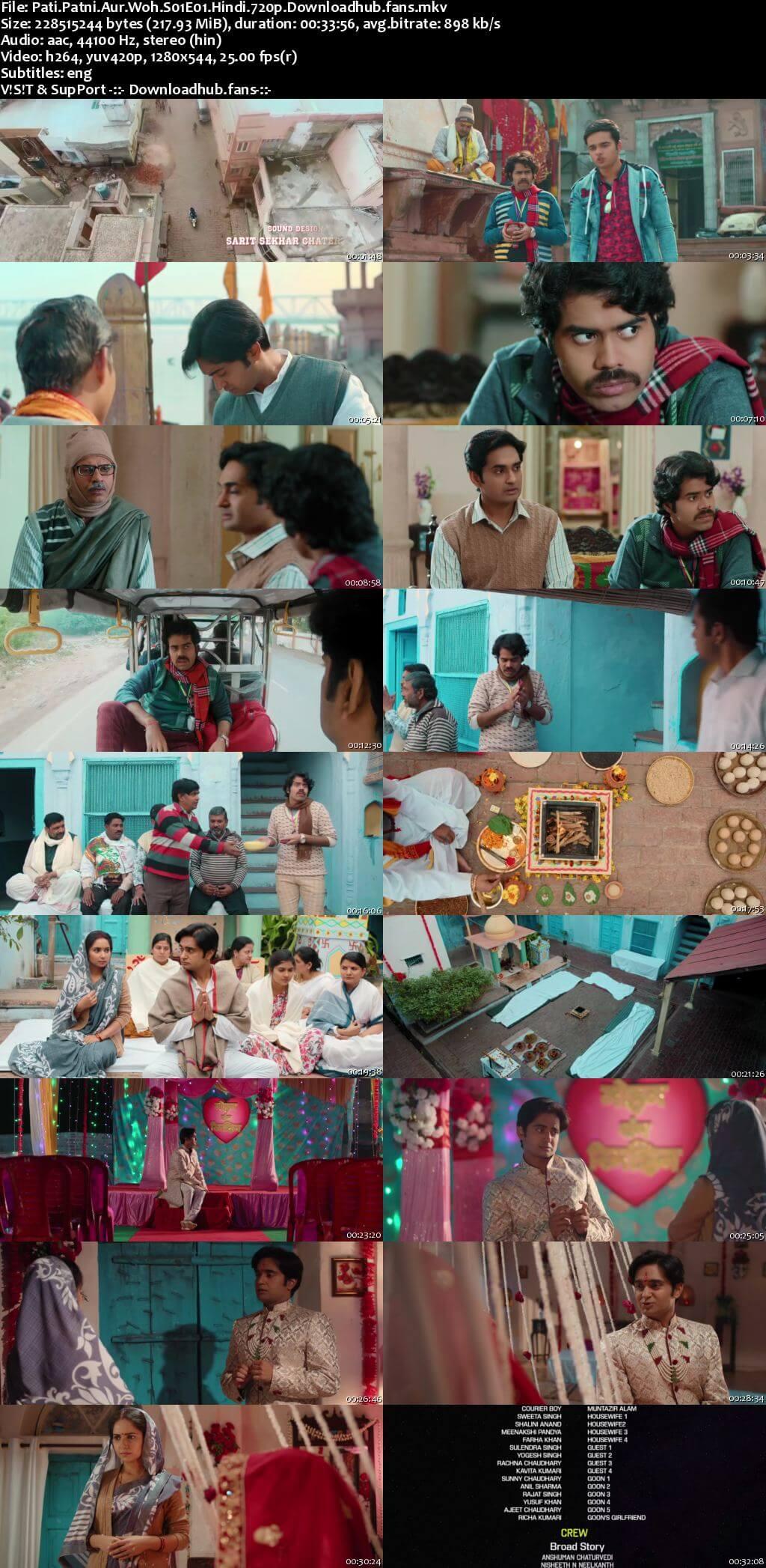 Pati Patni Aur Woh 2020 Hindi Season 01 Complete 720p HDRip ESubs
