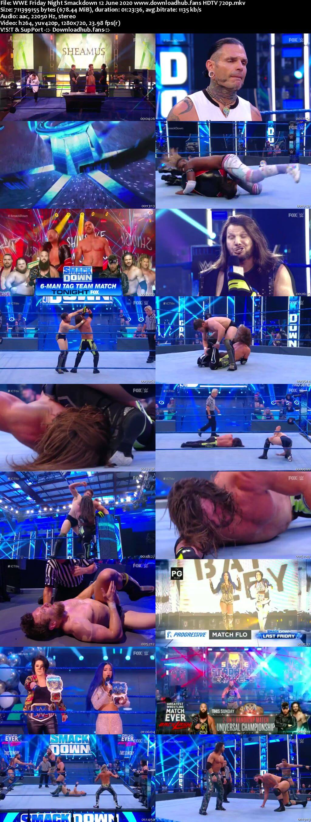 WWE Friday Night Smackdown 12th June 2020 720p 300MB HDTV 480p