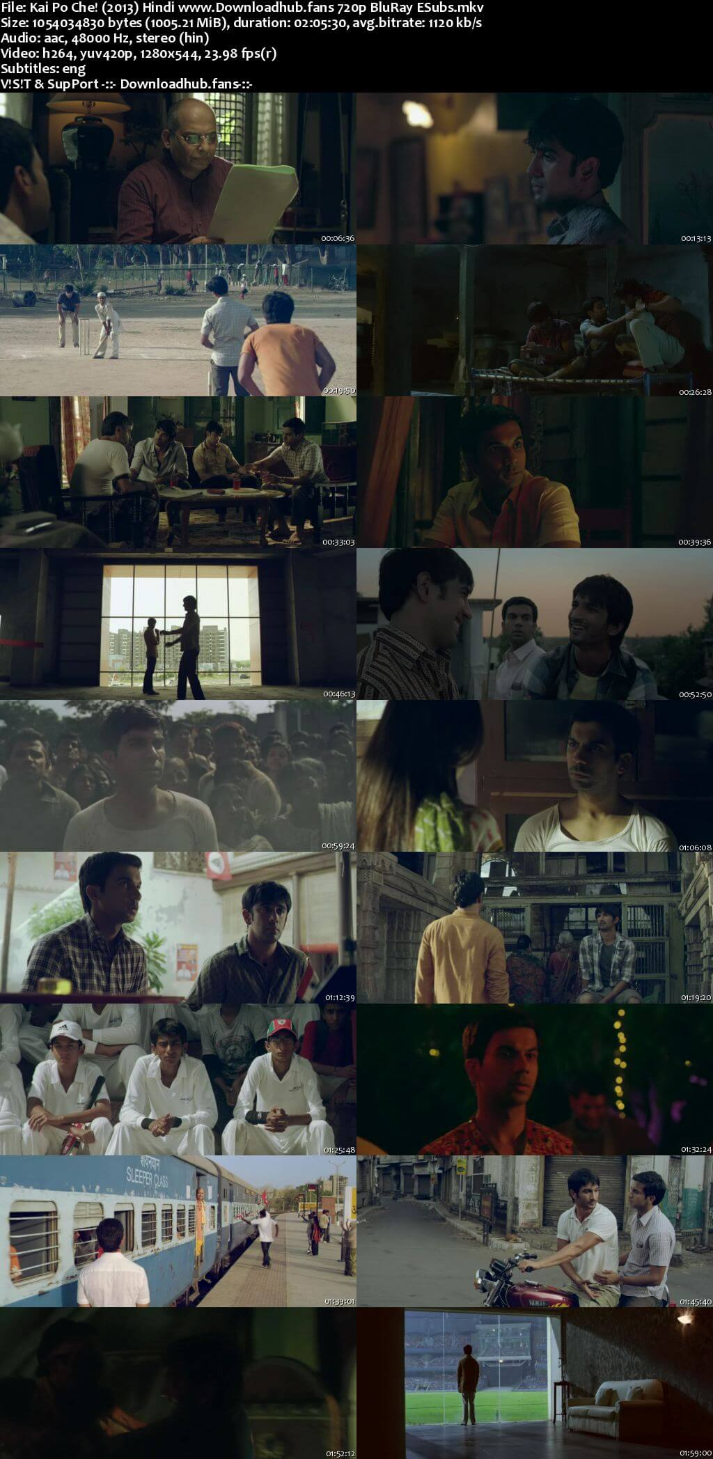 Kai po che! 2013 Hindi 720p BluRay ESubs