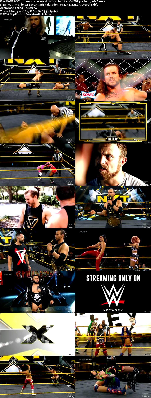 WWE NXT 17th June 2020 350MB HDTV 480p