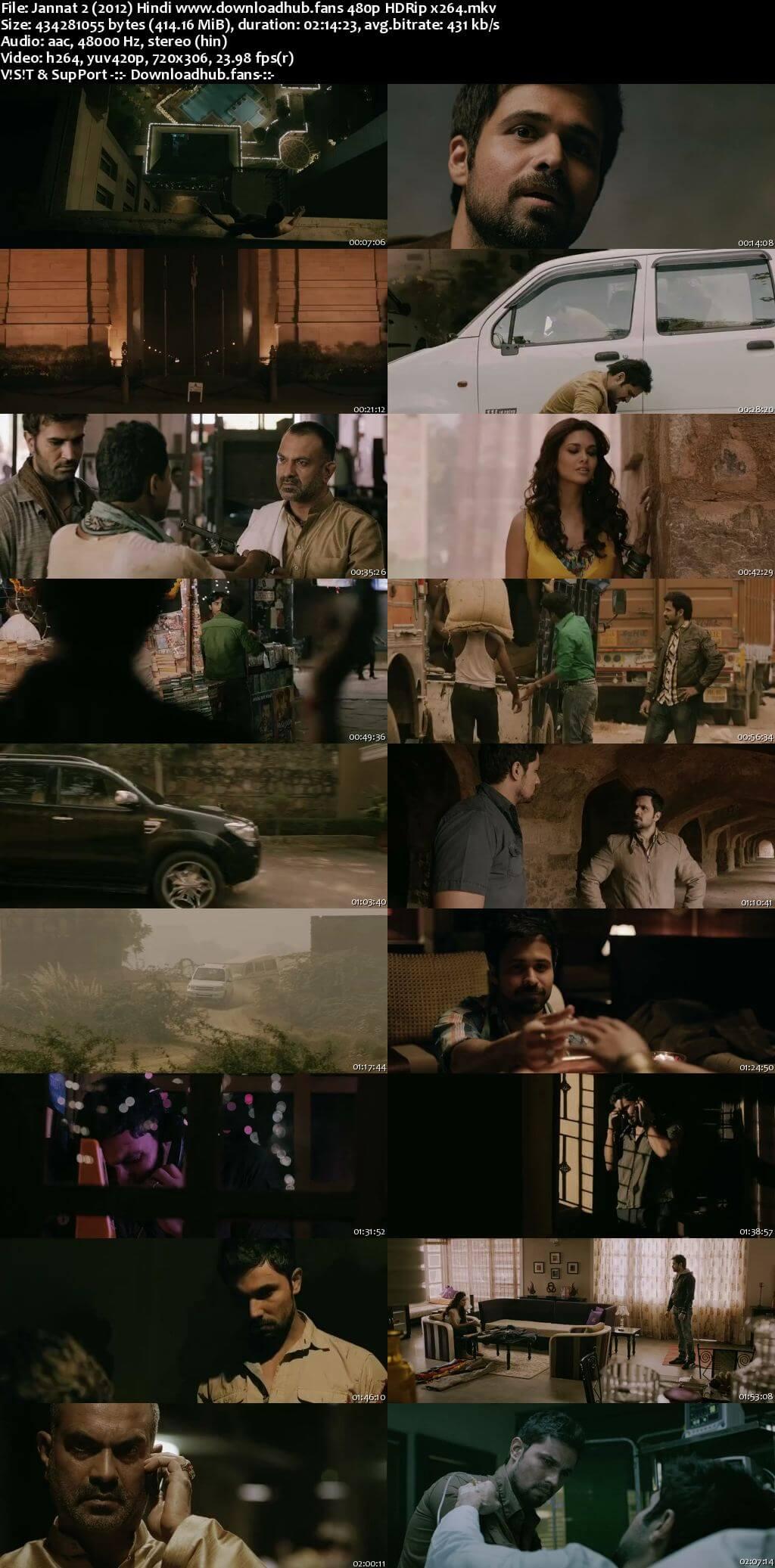 Jannat 2 2012 Hindi 400MB HDRip 480p