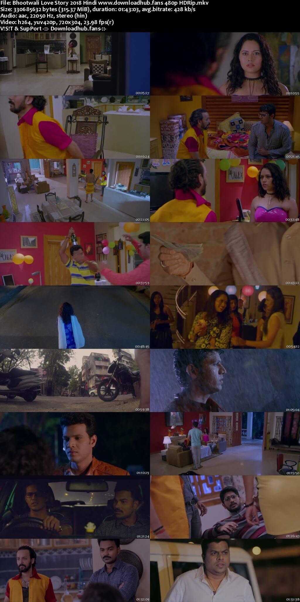Bhootwali Love Story 2018 Hindi 300MB HDRip 480p
