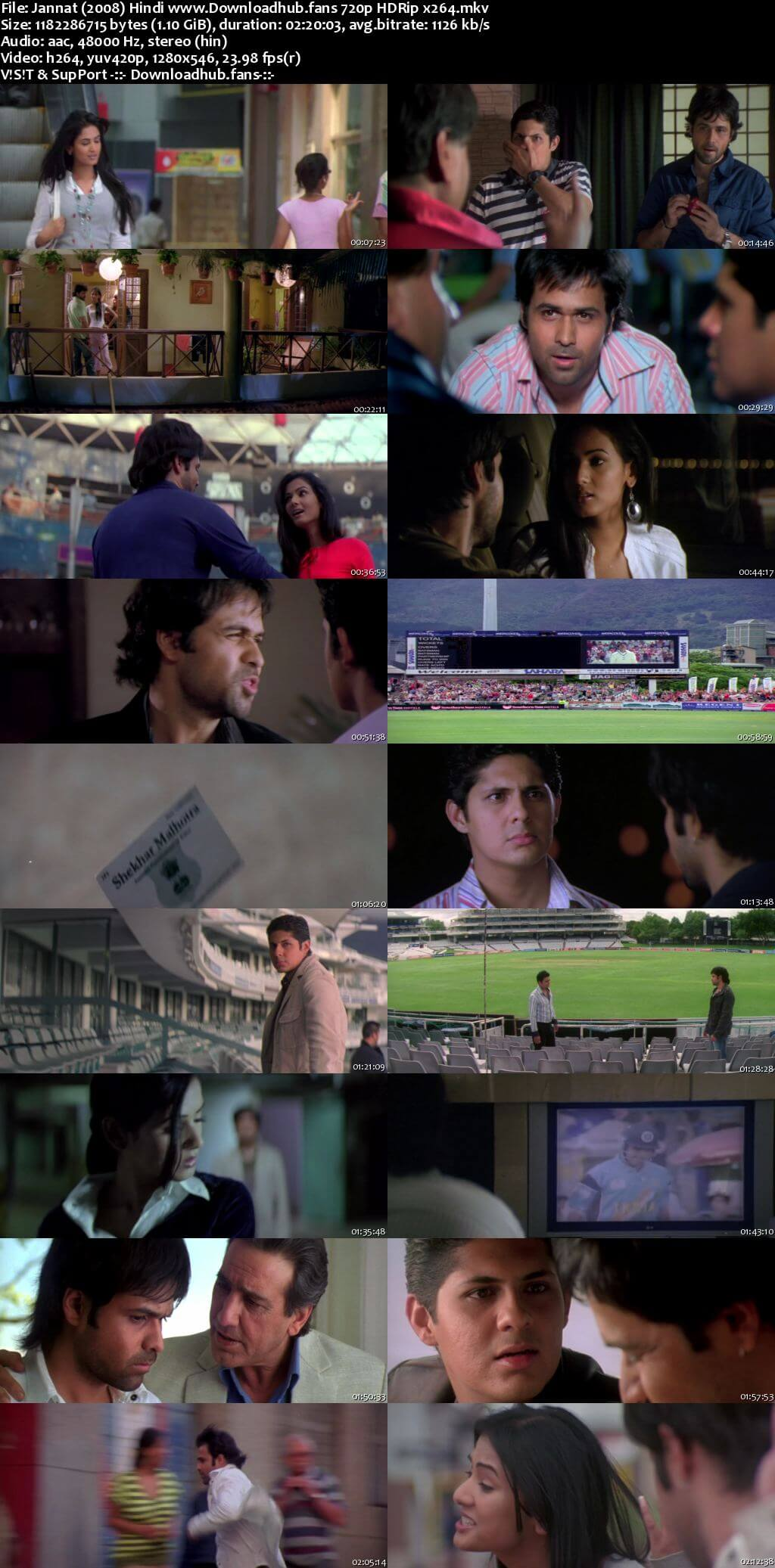 Jannat 2008 Hindi 720p HDRip x264