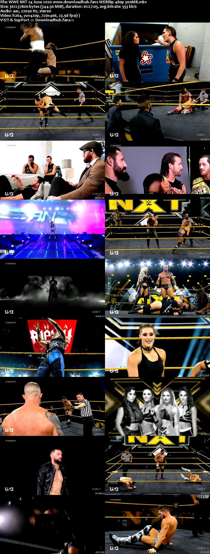 WWE NXT 24th June 2020 350MB HDTV 480p
