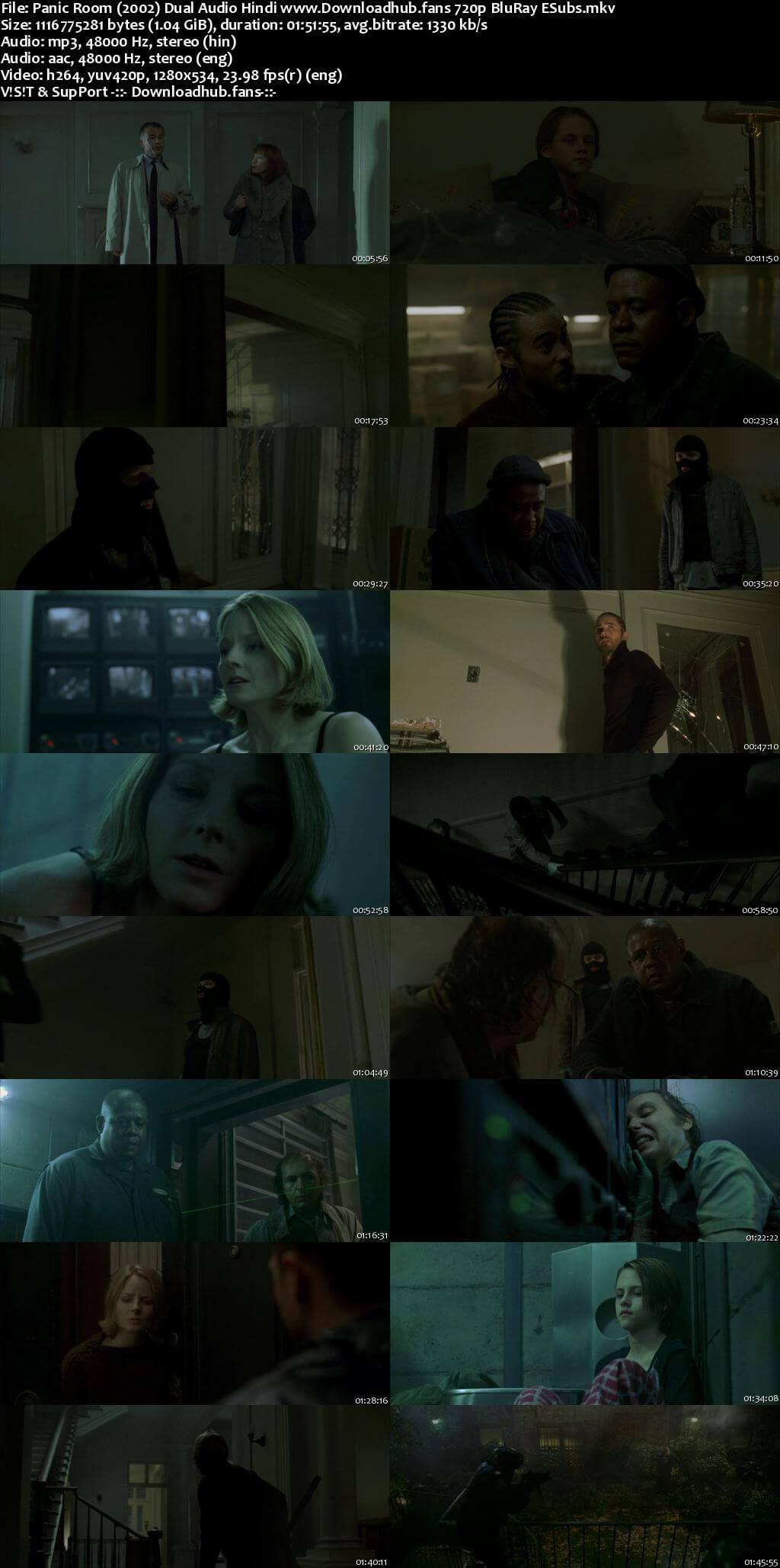 Panic Room 2002 Hindi Dual Audio 720p BluRay ESubs